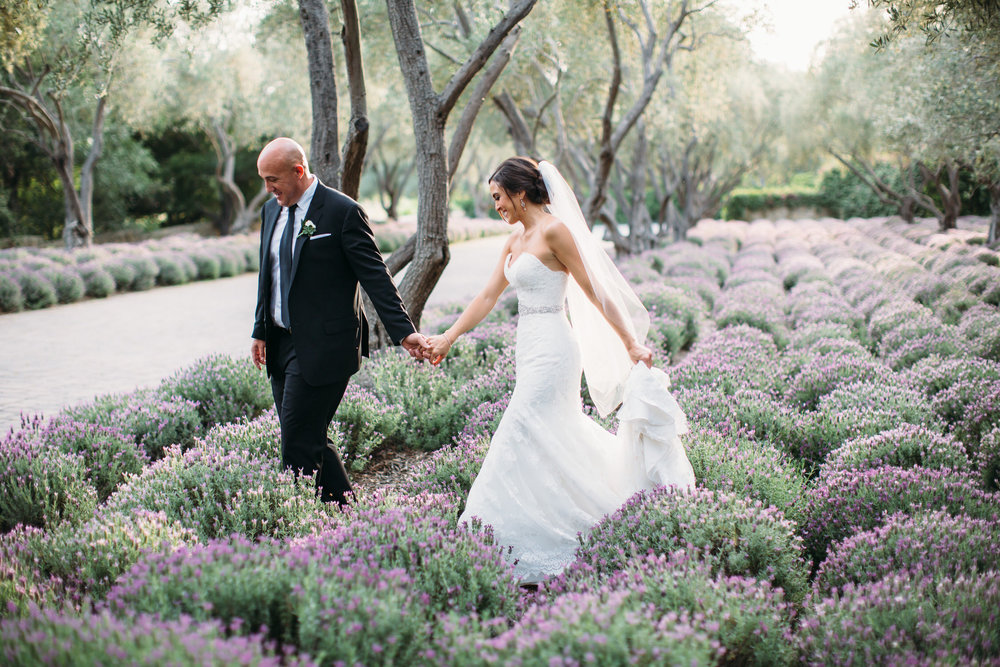 San Ysidro Ranch Lavender Field Wedding photograph