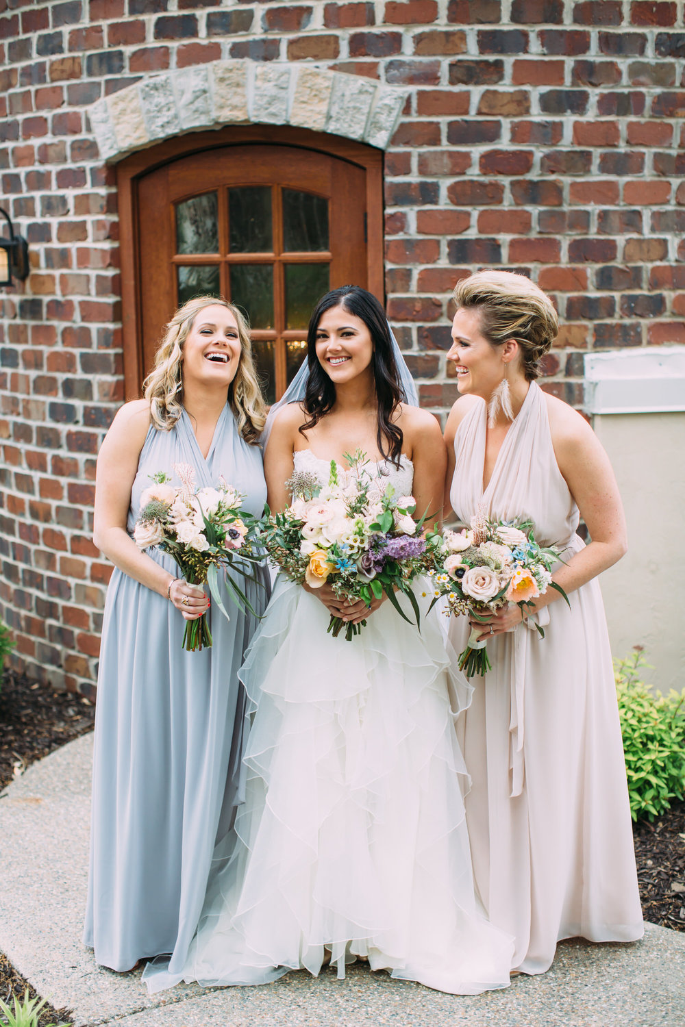 Bride and bridesmaids, denver wedding photographer