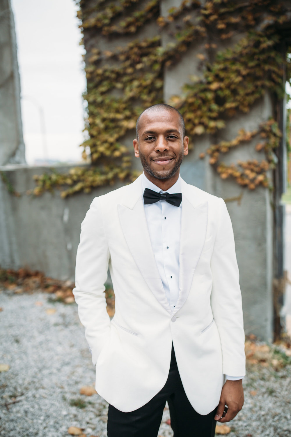 Groom style, St Louis modern wedding