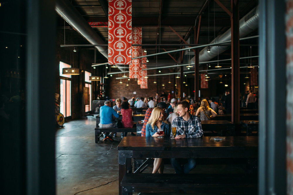 Brewery Engagement Photos, NYC Engagement Photographer, Urban Chestnut Brewery