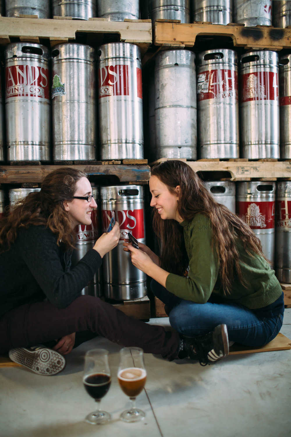 Same sex engagement photos, 4hands Brewery, St louis engagement photos,