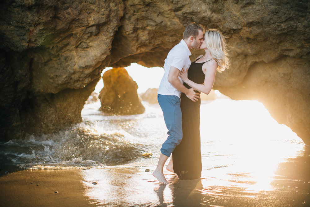 Malibu engagement photographer, El Matador Beach engagement photos, California Wedding Photographer