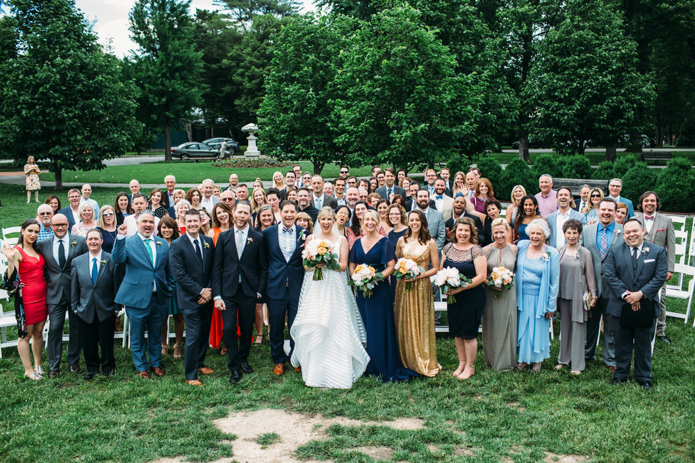 Group wedding photos, all of our guests in one photo, Big group photos, St Louis Wedding Photographer