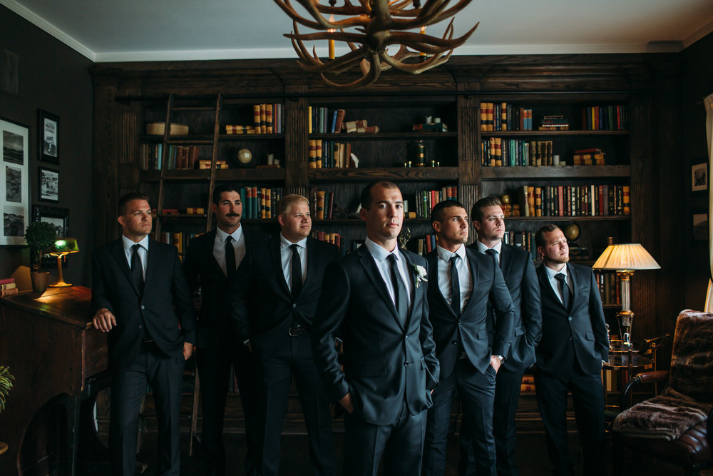 Groom and groomsmen photos, Manor House Colorado Wedding, Denver Wedding Photographer