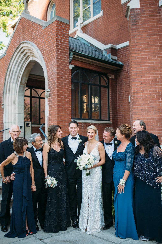 Wedding party photos, group photos at a wedding, relaxed wedding photos, Denver Wedding Photographer, Family formals