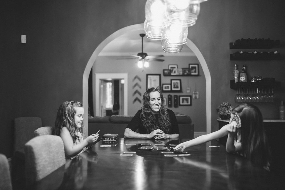 At home game night, Lifestyle Family photographer, Chicago Family photographer