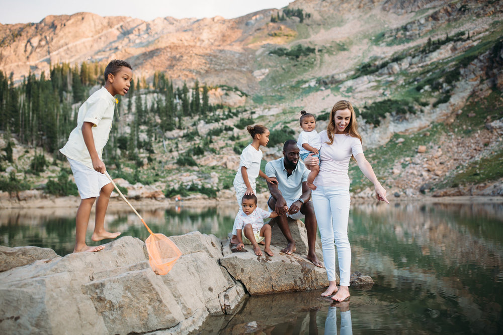 family adventures, Hiking Cecret Lake, Utah family photographer