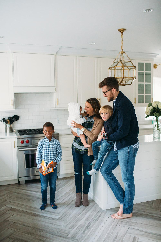 St louis family photos, Lifestyle photographer, Kitchen remodel