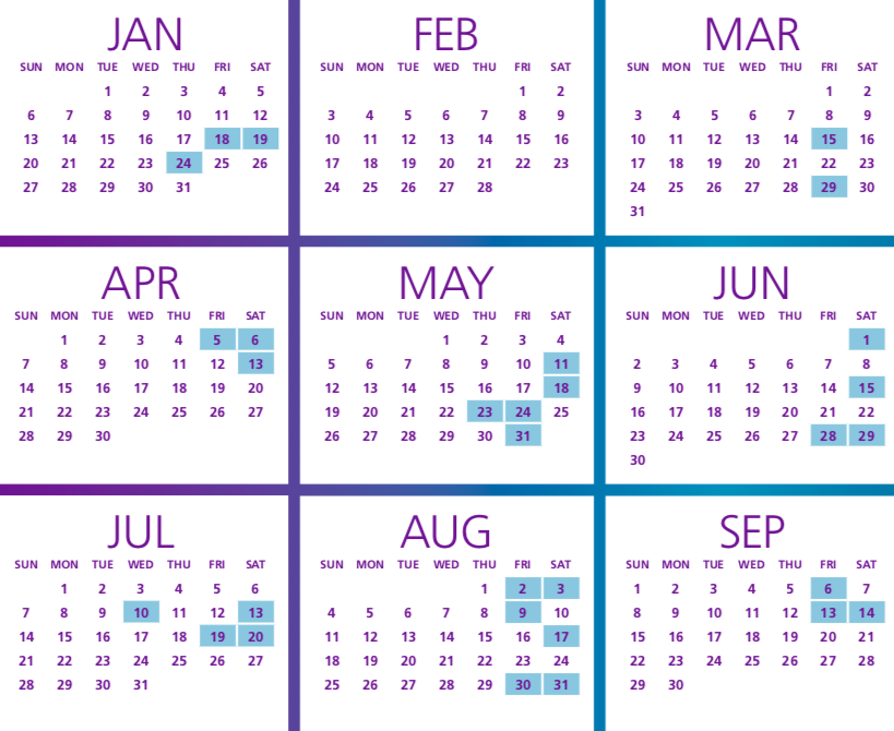 mcat test dates 2019