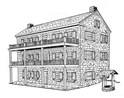 Rendering of Brown's home