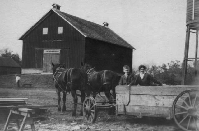 Maud Hill Schroll at the farm in 1911