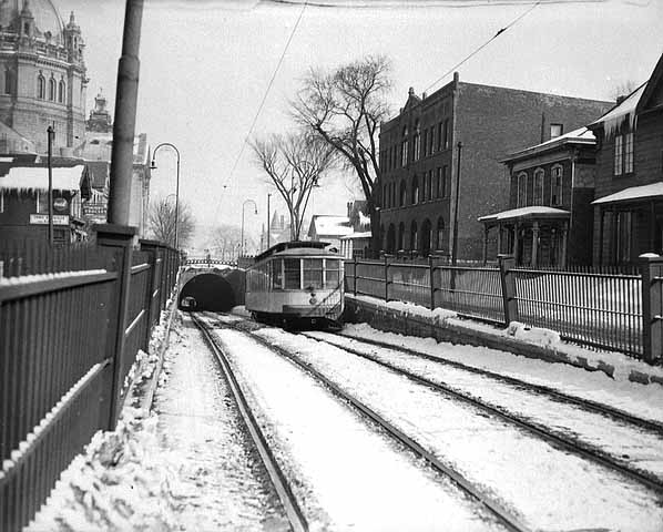 Upper tunnel entrance on Selby. 1951.