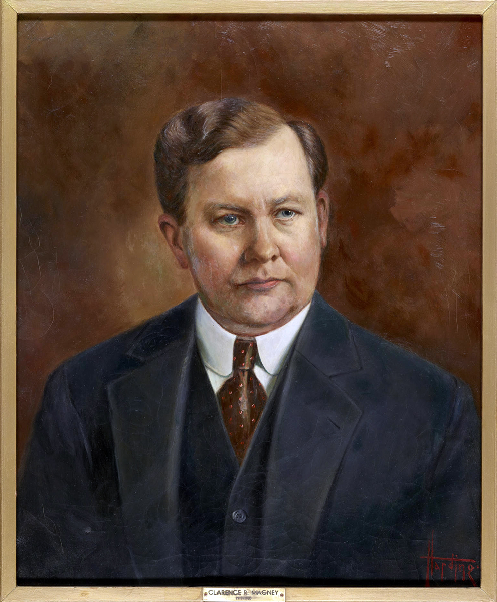 Clarence R. Magney, 1917.  Photo: Duluth Public Library