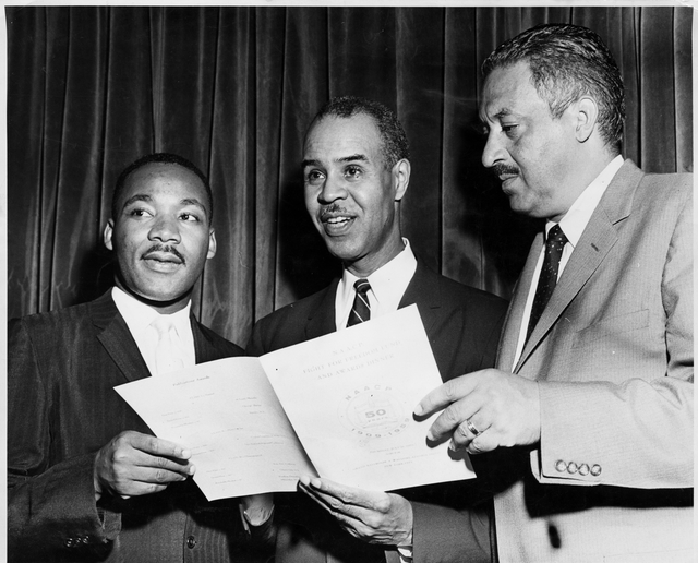 Martin Luther King, Jr., Roy Wilkins, Thurgood Marshall