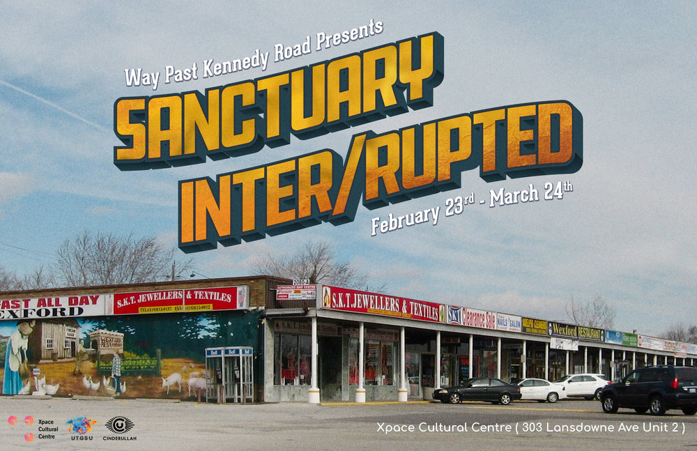 Sanctuary Inter/rupted  postcard by Sahar Ullah (2018)