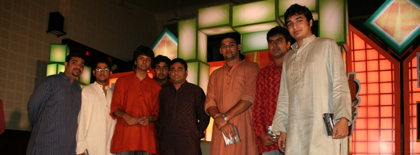 With Oscar Award winner A R Rahman, who produced and released OXYGEN Band's single in 2009