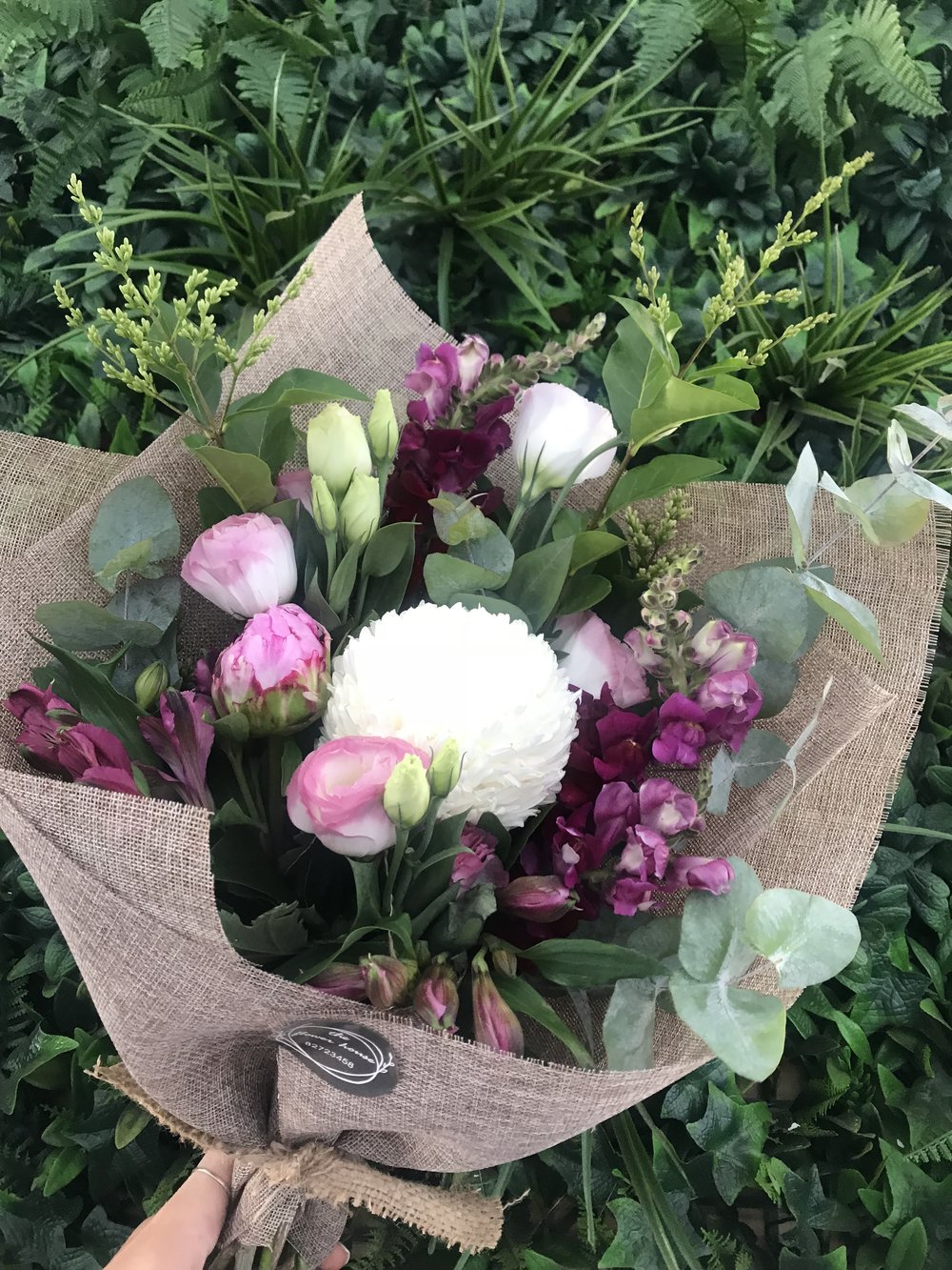 Order your daily blooms here. - One off hand tied bespoke bouquette of our fresh market flowers, perfect for every occasion.