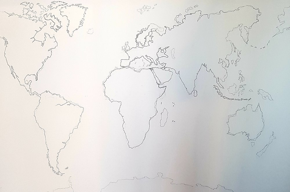 Fragile Earth 150 x 100cm