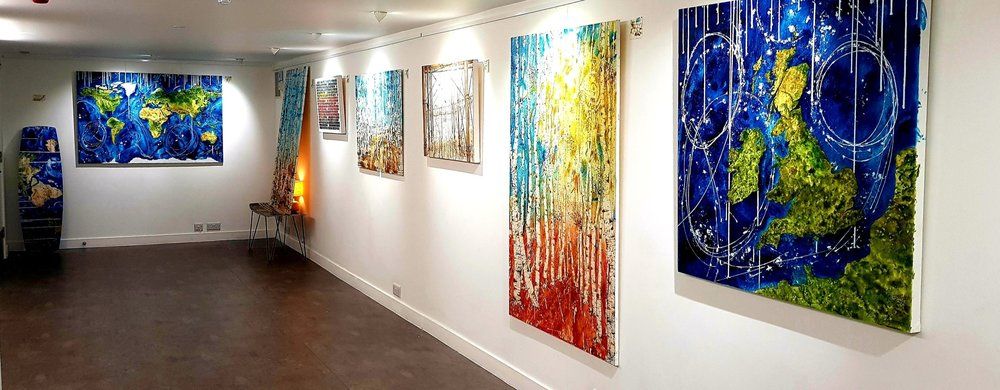 My first solo show at DC1 Gallery in Seaside Road Eastbourne, on till 23rd March.