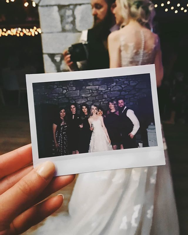 I have ridiculous amounts of love for everybody in this photo. Celebrating my best friend's wedding with my childhood friends. So surreal and wonderful. The most beautiful wedding and the most perfect couple ♥️♥️♥️ . . . . #mainfeewedding2018 #iwasthemaidofhonour #wedding #polaroid #eyelidday #doxfordbarns