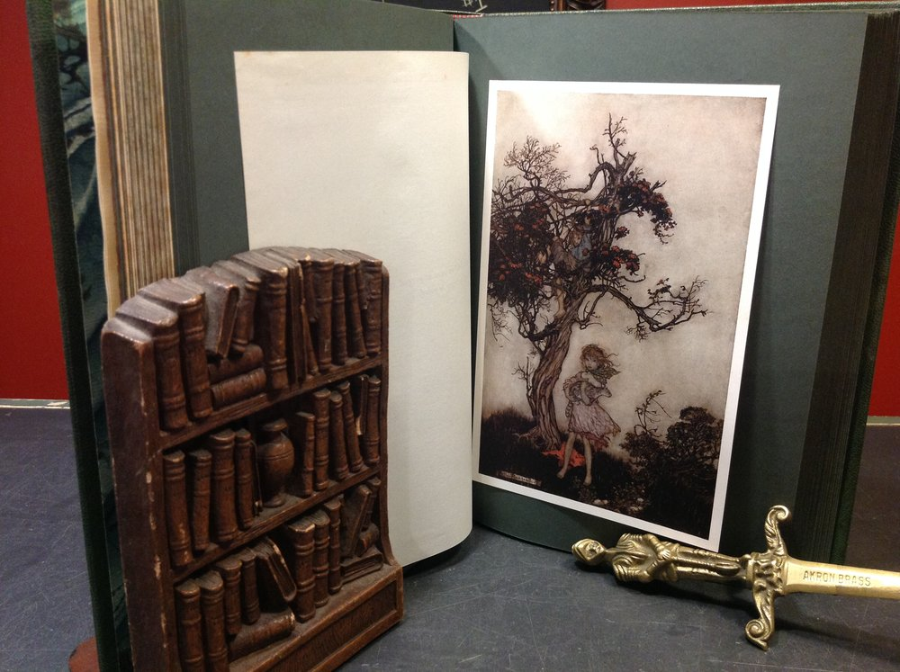 Rip Van Winkle by Washington Irving - 1905 First Thus Edition, Heinemann/Doubleday, with tipped-in, color Arthur Rackham illustrations.