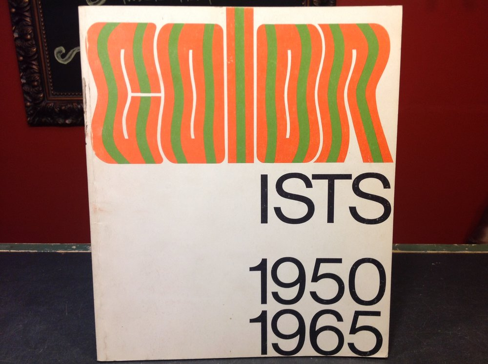 Colorists - 1965 First Edition, San Francisco Museum of Art, catalogue of abstract art with photographs.