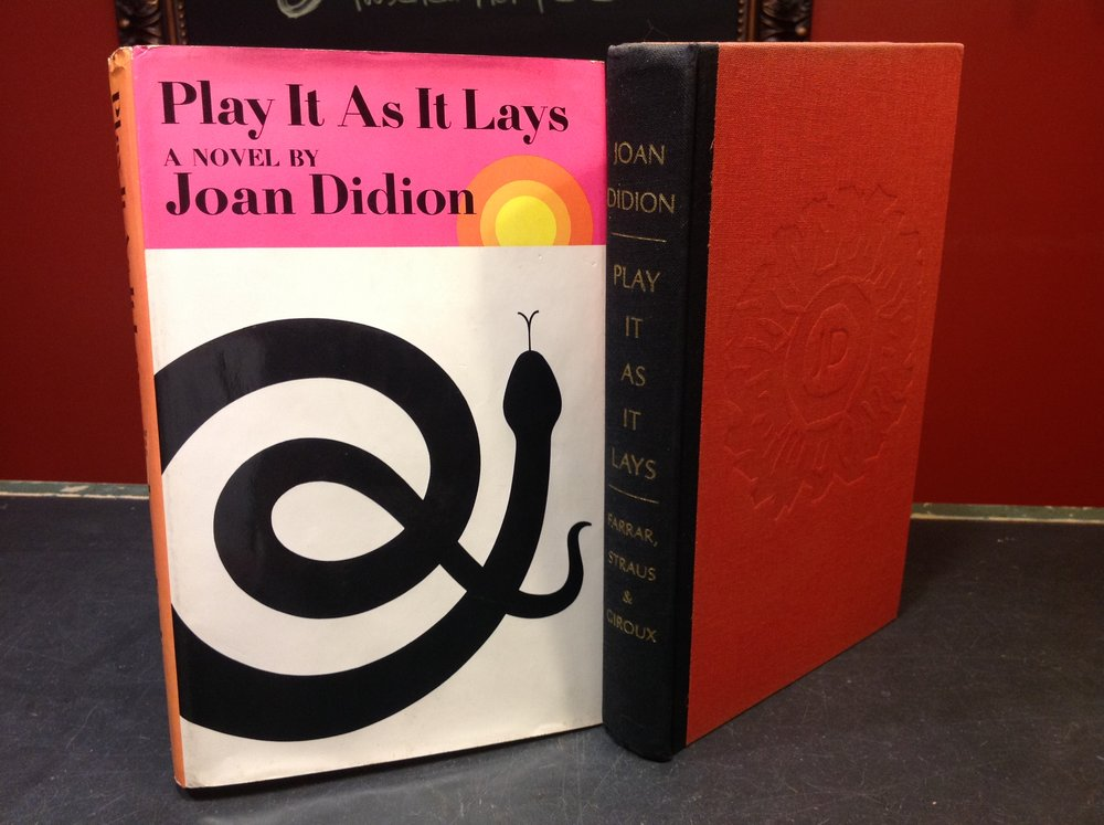 Play it As It Lays by Pulitzer Prize and National Book Award-winner Joan Didion - 1970 First Printing, Farrar, Straus & Giroux, Didion's second novel.