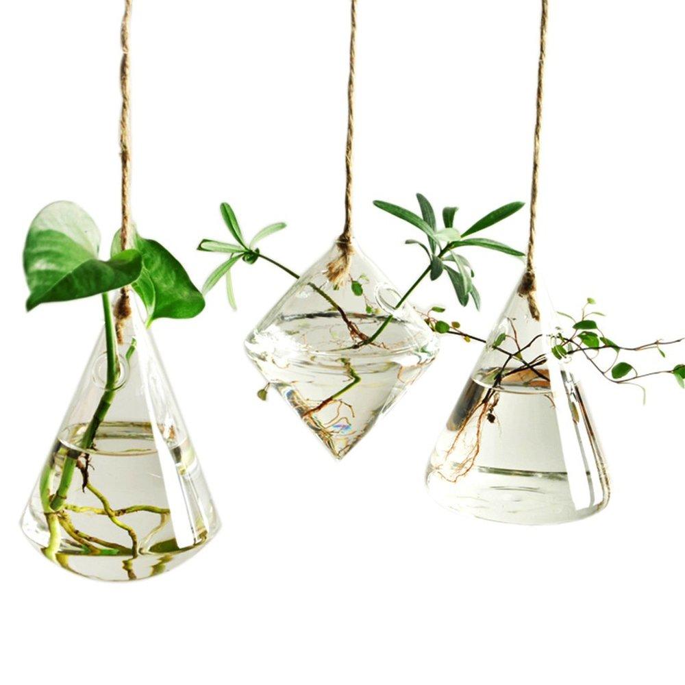 Set of 3 Hanging Vases - $17