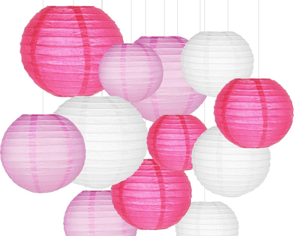You can get very festive with paper lanterns. Hang them around the romantic dinner table or the bedroom for added love. You can get set of  5 for $8 bucks!