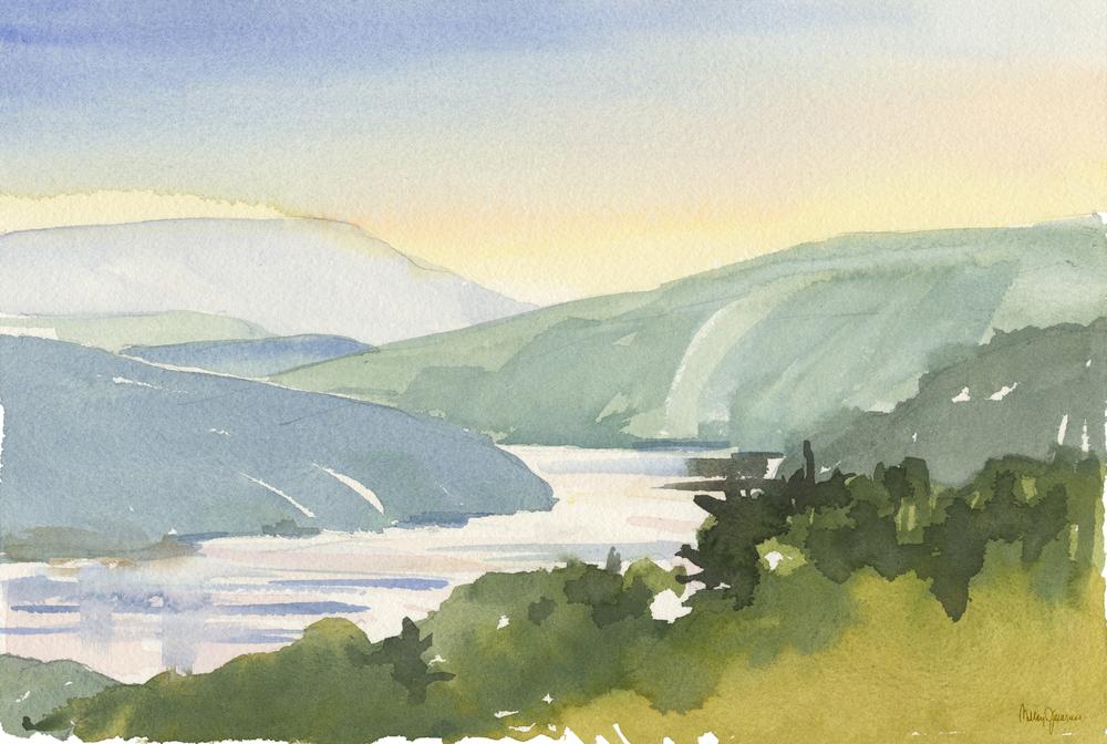 Morning Light on the Hudson