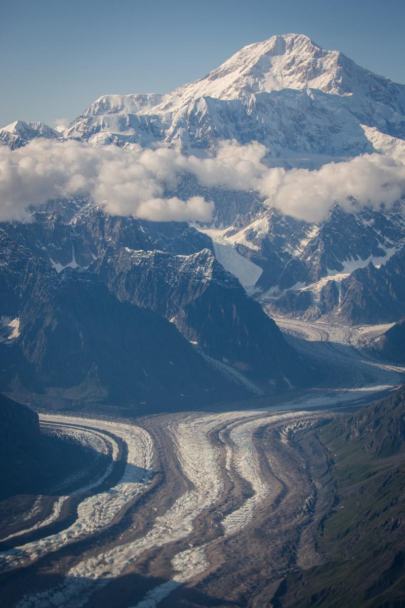Aerial photos of the Alaska mountains