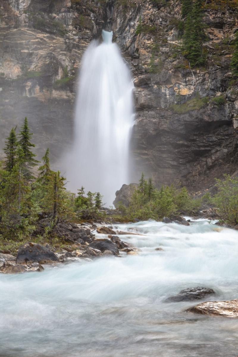 Beautiful waterfall in Alaska
