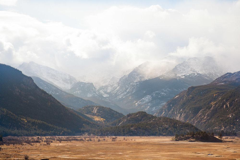 Valley in between mountains
