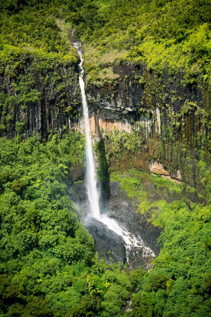 Tall waterfall in Alaska