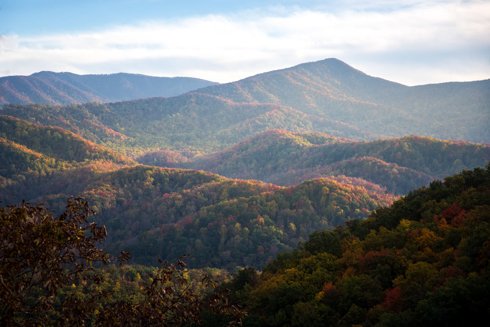 Ozark Mountains during the fall