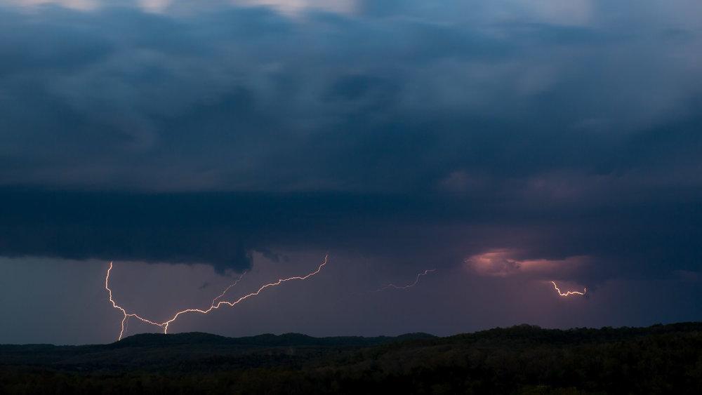 Lightening storm in Missouri