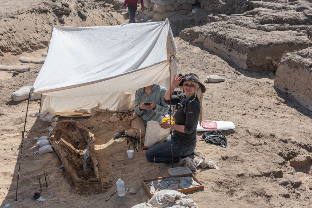 Fig. 5. Day 5 in situ. Photo: Ayman Damarany / North Abydos Expedition © 2019