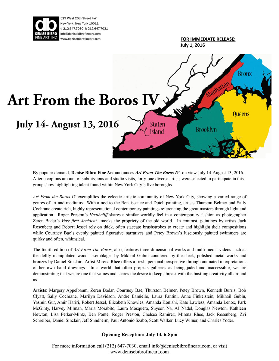 ART FROM THE BOROS IV Press Release