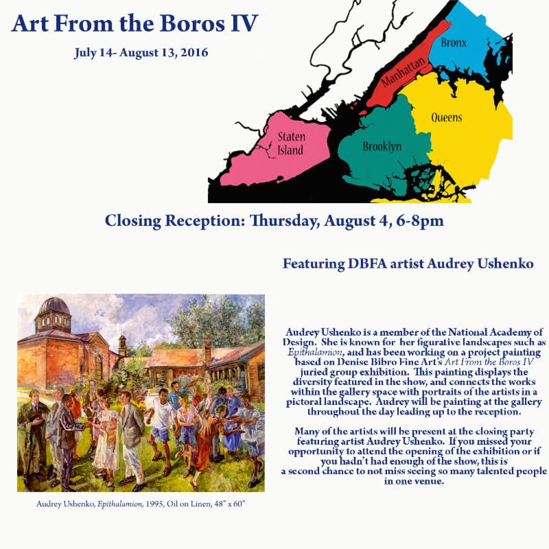 Art From the Boros IV, Closing Reception August 4, 6-8pm