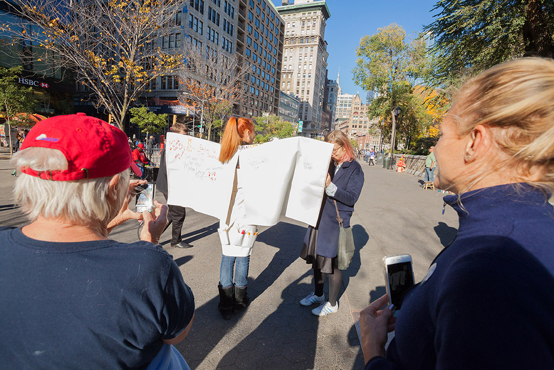 Memory Replacement – Election Day performance on Union Square by Mirena Rhee