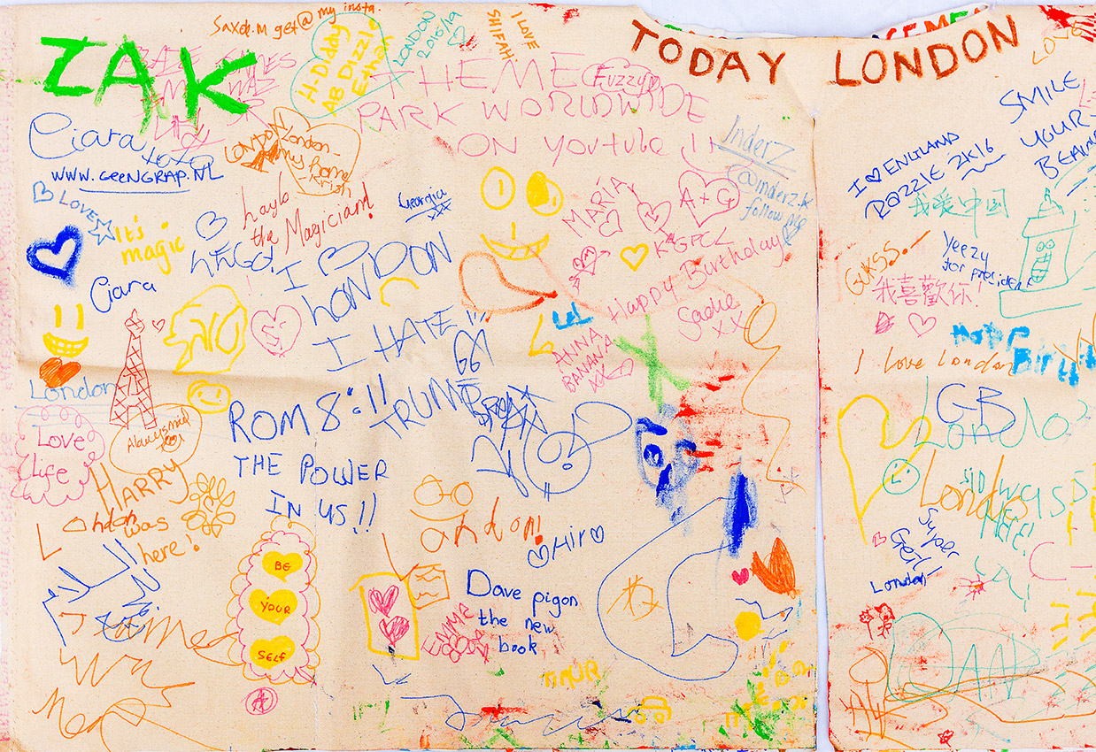 Messages written during Today London - The Flip Side Performance on Leicester Square in London