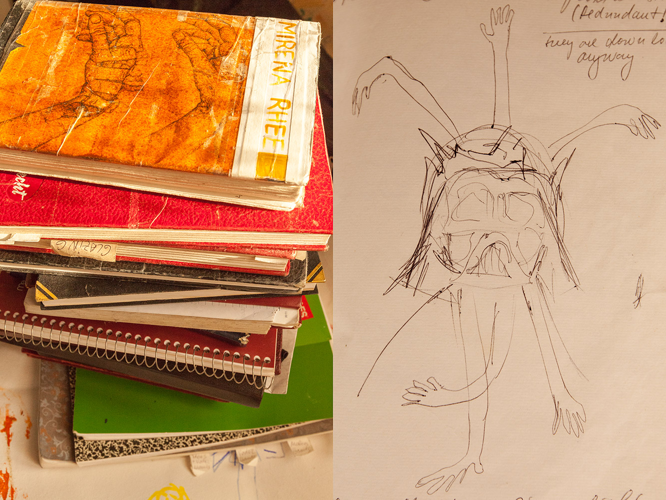 mirena rhee codices - sketches and notebooks