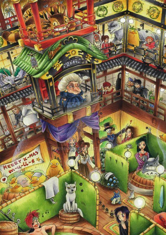 A lively visit to the Bathhouse! Hayao Miyazaki
