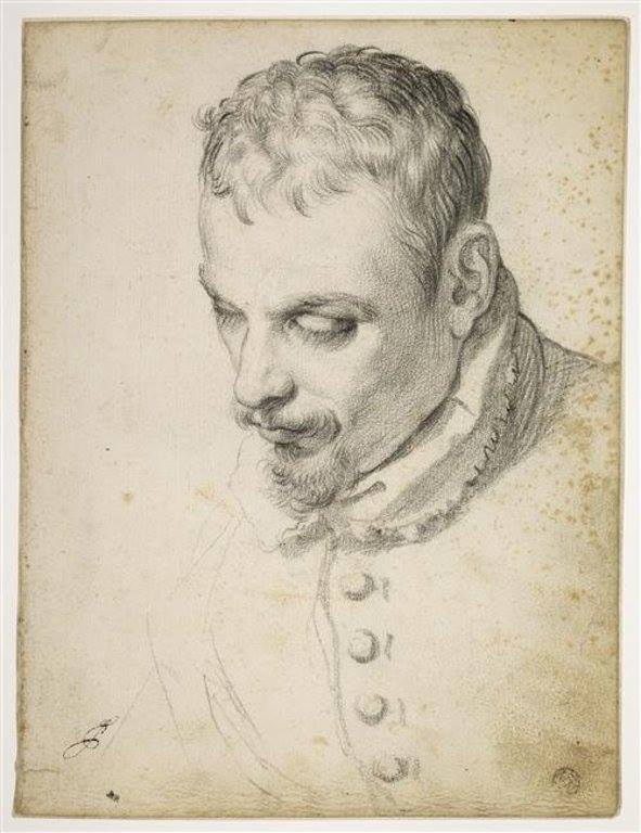 Agostino Carracci, Portrait of man, DRAWING