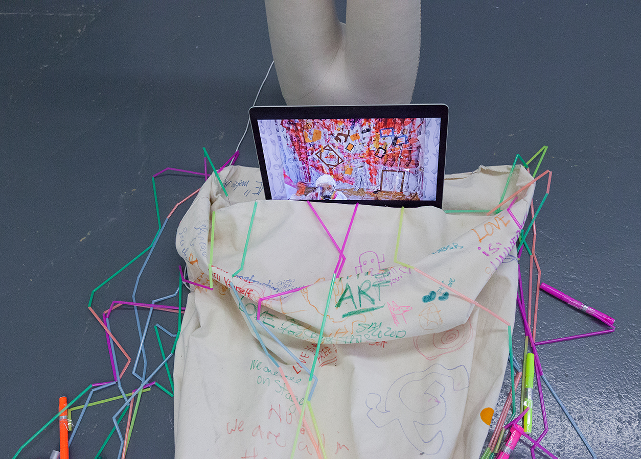 Mirena Rhee - Ingredients of a Subway Car and Tangled - A Three in One installation