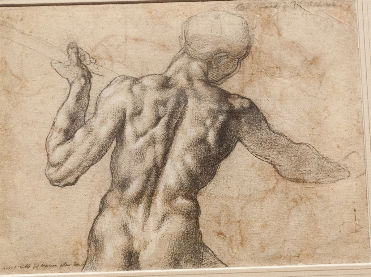 Michelangelo drawing from the exhibition at the Metropolitan Museum of Art in New York