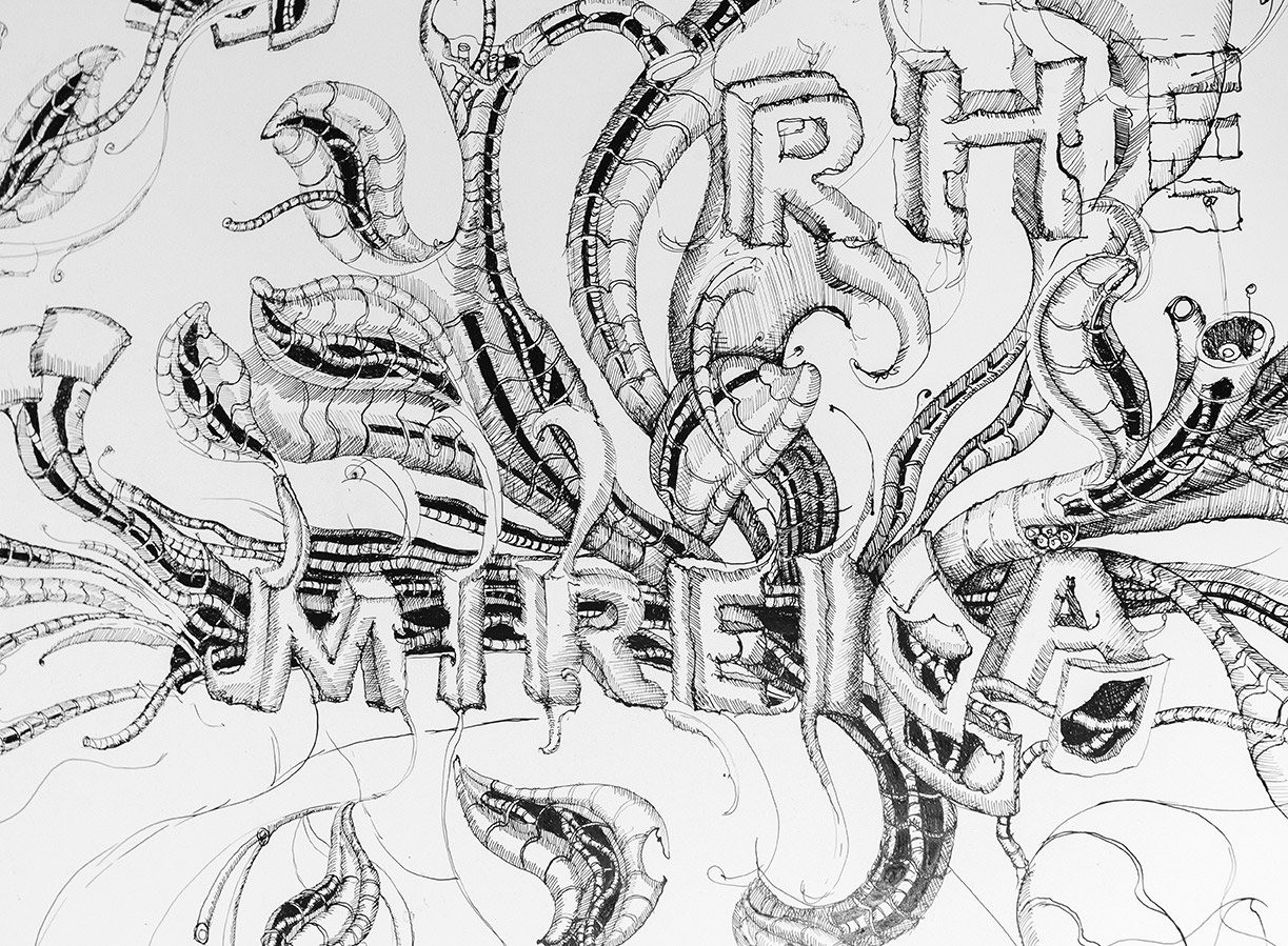 Mirena Rhee pen and ink drawing