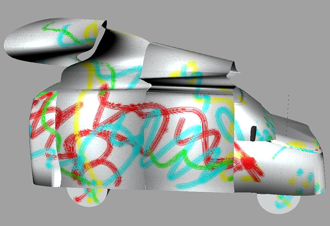 Roadside Attraction - ArtTruck visualization. A Mirena Rhee installation coming soon to Manhattan.