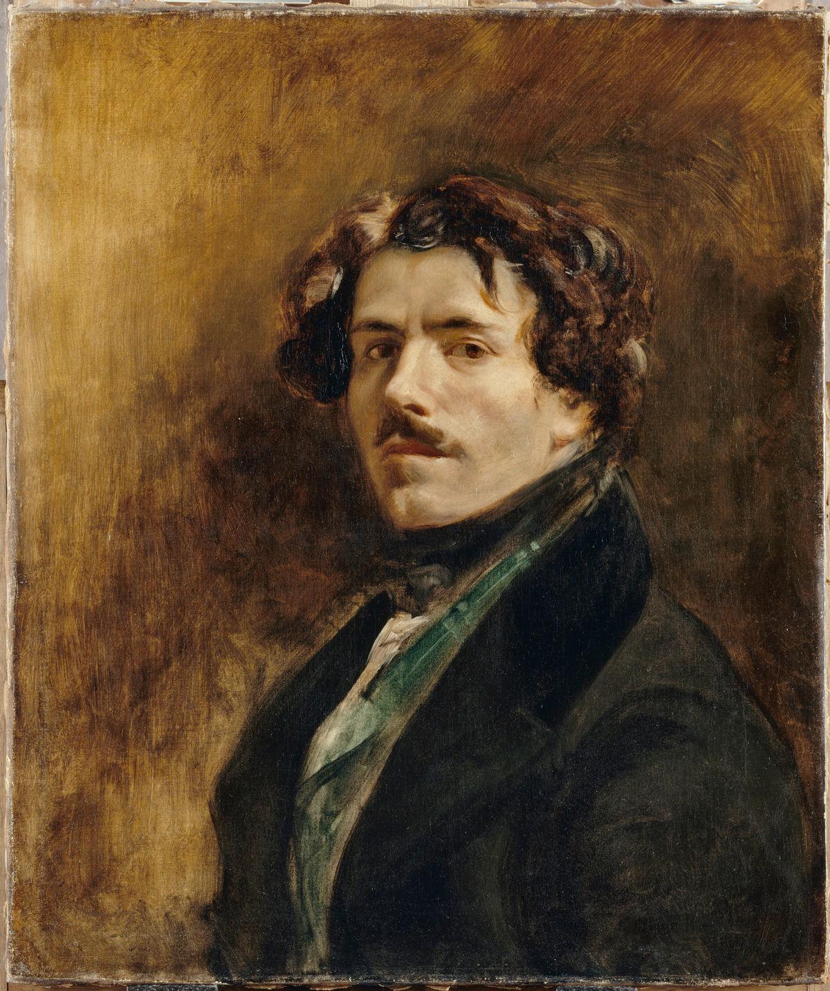 Portrait de l'artiste Delacroix Eugène (1798-1863) Paris, musée du Louvre