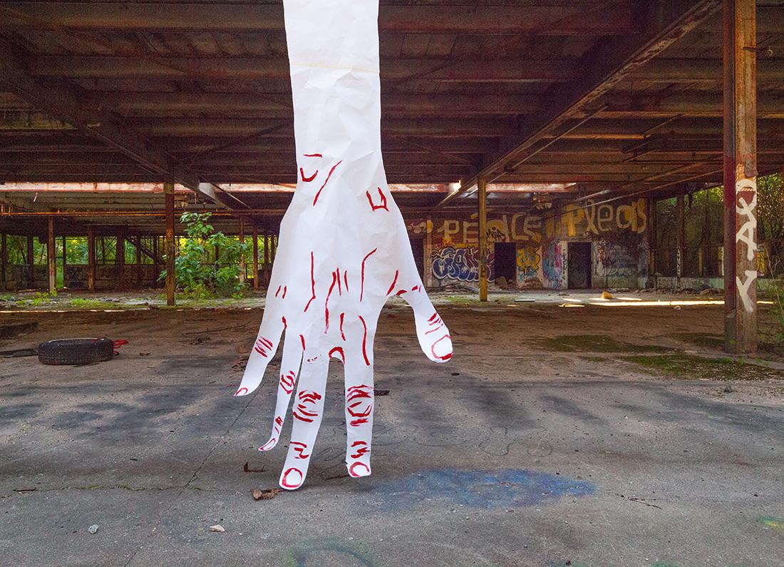 Giants Hands installation in Beacon by Mirena Rhee